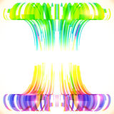Rainbow colors abstract lines vector background Royalty Free Stock Photos