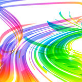 Rainbow colors abstract lines vector background Royalty Free Stock Photography