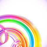 Rainbow colors abstract shining spirals background Royalty Free Stock Photography