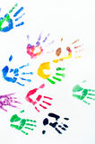 Rainbow colors arms prints Royalty Free Stock Photography