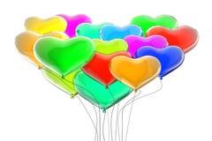 Rainbow colors balloons Royalty Free Stock Photo