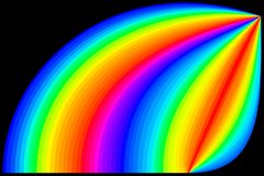 Rainbow colors in black background royalty free stock image