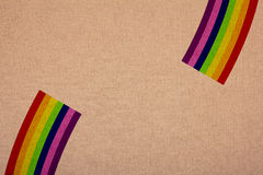Rainbow colors on canvas, retail at a magnification Royalty Free Stock Photos
