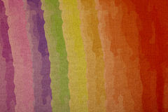 Rainbow colors on canvas, retail at a magnification Stock Image