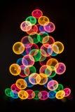 Rainbow colors Christmas tree Royalty Free Stock Photo