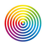 Rainbow Colors Circle Rings Stock Photography