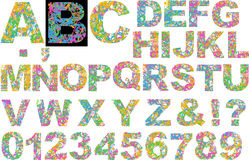 Rainbow Colors Curves Alphabet Royalty Free Stock Image