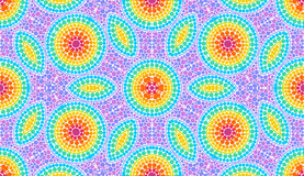 Rainbow colors dotted art seamless pattern tile Royalty Free Stock Photography