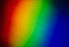 Rainbow Colors. Full Spectrum from a prism Royalty Free Stock Photography