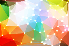 Rainbow colors geometric background with lights Royalty Free Stock Photography
