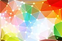 Rainbow colors geometric background with mesh and lights Stock Image