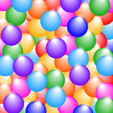 Rainbow colors glossy balls background. Stock Photos