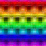 Rainbow colors gradient seamless knitted background. Vector Stock Image