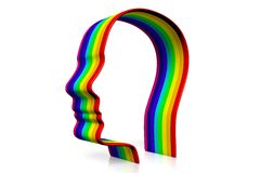 Rainbow, colors, lgbt, homosexual, homo... Stock Image