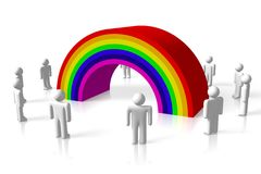 Rainbow, colors, lgbt, homosexual, homo... Royalty Free Stock Photo