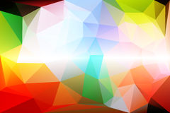 Rainbow colors low poly background royalty free stock images