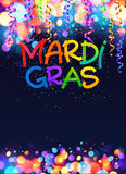 Rainbow colors Mardi Gras vector poster template background Royalty Free Stock Photography