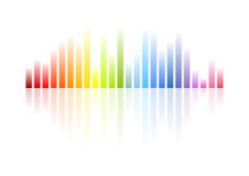 Rainbow colors musical equalizer abstract background. Colorful vector design stock illustration