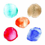 Rainbow colors paint circles, vector set Royalty Free Stock Photos