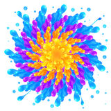 Rainbow colors paint splash circle on white Stock Images