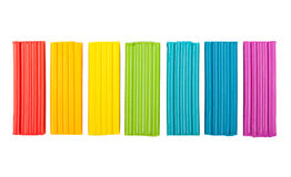 Rainbow colors plasticine Stock Photos