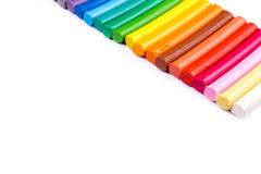 Rainbow colors plasticine bars, modeling clay Stock Photo