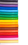Rainbow colors plasticine bars, modeling clay Royalty Free Stock Photo