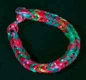 Rainbow colors rubber bands loom bracelet Stock Photography