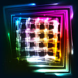 Rainbow colors shining neon lights grid Royalty Free Stock Images