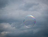 Rainbow colors in soap bubble Royalty Free Stock Photos