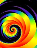 Rainbow Colors and Spiral Pattern stock image