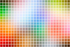 Rainbow colors square mosaic background over white Royalty Free Stock Photography
