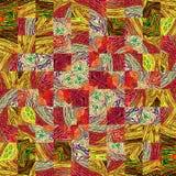 Rainbow colors square mosaic pattern Vector Illustration