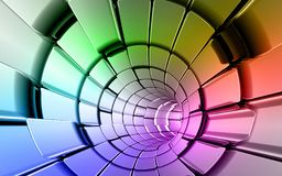 Rainbow colors technology background Stock Photography
