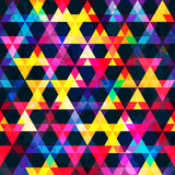 Rainbow colors triangle. Seamless  texture Stock Photography
