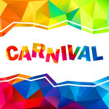 Rainbow colors triangles abstract carnival sign Royalty Free Stock Photo