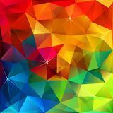 Rainbow colors triangular vector pattern Stock Photos