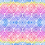 Rainbow colors tribal ornament on white vector seamless pattern Royalty Free Stock Photos