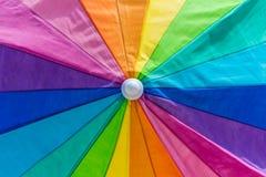 Rainbow colors of umbrella. Closeup of rainblow colour umbrella Stock Photography