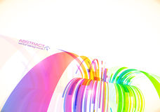 Rainbow colors vector abstract perspective Royalty Free Stock Photography