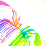 Rainbow colors vector abstract perspective Royalty Free Stock Image