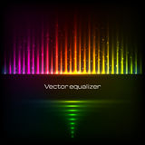 Rainbow colors vector equalizer Royalty Free Stock Images
