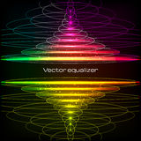 Rainbow colors vector vertical equalizer Royalty Free Stock Image