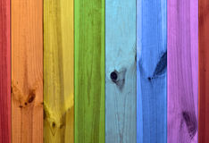 Rainbow colors wooden background Stock Photos