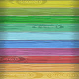 Rainbow colors wooden plane texture Royalty Free Stock Photos