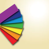 A rainbow colour book Royalty Free Stock Image