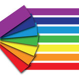 A rainbow colour book Stock Photo