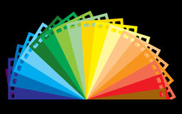 Rainbow colour film Stock Photography