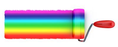 Rainbow colour painting Stock Photos