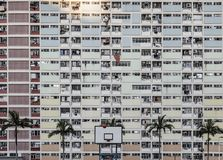 Rainbow coloured apartment in Choi Hung estate, Hong Kong